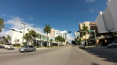 Biscayne Boulevard timelapse video Stock Footage