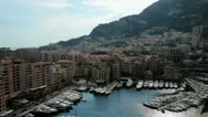 Stock Video Footage of Monte carlo skyline