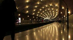 Monaco ville train station Stock Footage