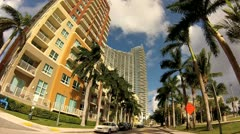 Miami North Bayshore Drive Stock Footage