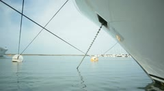 Anchored yacht Stock Footage