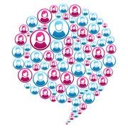 social marketing campaign - stock illustration