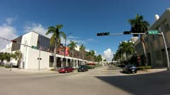 Biscayne Boulevard from 17th-19th street Stock Footage