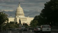 Stock Video Footage of US Capitol Building in the Evening, Washington, DC, USA