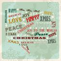 Stock Illustration of vintage merry christmas concept bubble