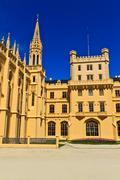lednice palace, unesco world heritage site, czech republic - stock photo