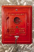 Antique Fire Alarm Switch - stock photo