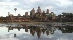 Evenng at Angkor Wat Stock Footage