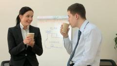Happy coffee-break - stock footage