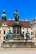 Vienna hofburg imperial palace inner courtyard with status of emperor francis Stock Photos