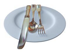 Dinner time - stock photo