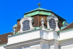 vienna hofburg imperial palace architectural details - stock photo