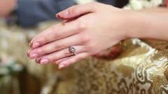 Thai style wedding Stock Footage