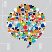 Social media diversity in technology Stock Illustration