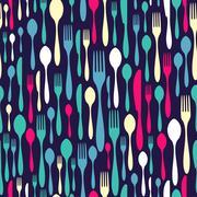 Silverware seamless pattern Stock Illustration