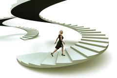 Stock Illustration of woman business success