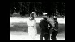 Yellowstone NP Emerald Pool 1934 B-W Stock Footage