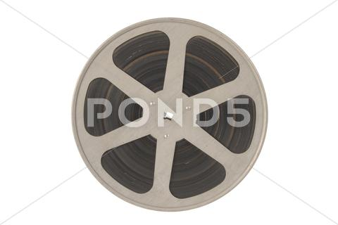 Stock photo of film reel isolated.
