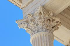 roman temple in nimes, provence, france - stock photo