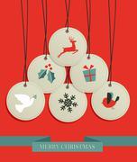 Christmas hang tags sale set Stock Illustration