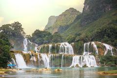 waterfall in vietnam - stock photo