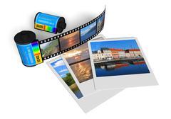 Travel photos Stock Illustration