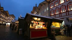 Christmas Market, Bavaria, Germany Stock Footage