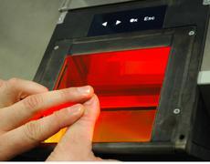 Fingerprint identification - stock photo