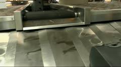 Airport Baggage Conveyor Close Up Stock Footage