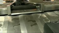 Stock Video Footage of Airport Baggage Conveyor Close Up
