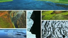 Montage Images Natural Volcanic Activity, Iceland Stock Footage