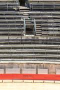bull fighting arena nimes (roman amphitheater), france - stock photo
