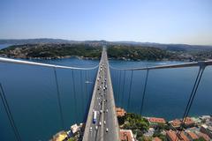 Fatih Sultan Mehmet Bridge.jpg Stock Photos