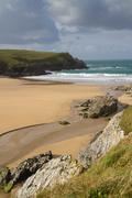 Porth Joke beach next to Crantock beach Cornwall England UK Stock Photos