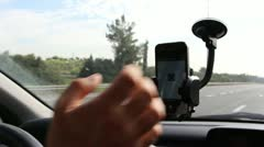 Texting and Using phone while driving Stock Footage