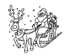 Rudolph and Santa Claus Stock Illustration