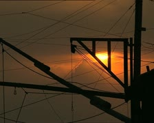 SUNSET and wires det - stock footage
