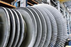 Rotor of a steam turbine Stock Photos