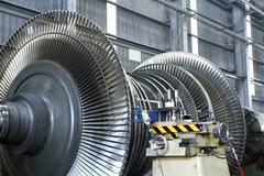 turbine at workshop - stock photo