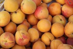Apricots at a market Stock Photos