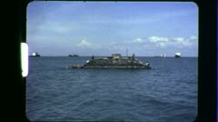 PT BOAT Mekong River On Patrol Vietnam War 1960s Vintage GI Home Movie Film 6426 Stock Footage
