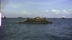 PT BOAT Mekong River Patrol Vietnam War 1960s Vintage GI Home Movie Film 6526a Stock Footage