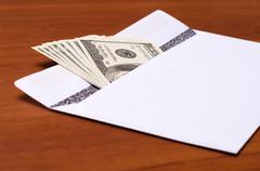 bribe. - stock photo