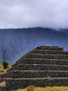 pyramids in guimar, tenerife, canary islands, spain - stock photo