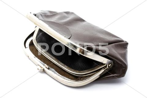 Stock photo of old purse