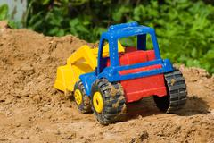 toy tractor. - stock photo