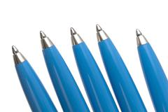 Blue ballpoint pen Stock Photos
