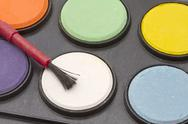 Stock Photo of water color palettes