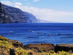 los gigantes(view from punta teno), tenerife, canary islands, spain - stock photo