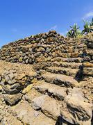 pyramids in guimar, tenerife, canary islands, spain - stock photo